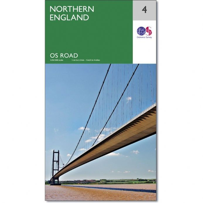 Ordnance Survey Road Map 4 - Northern England